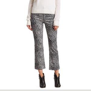 NWT Rag & Bone Hana High-Rise Cheetah-Print Jeans